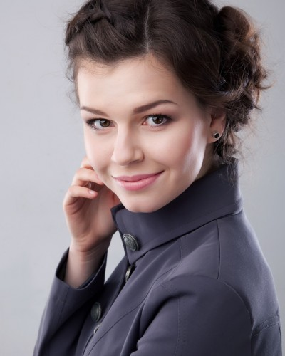 Lovely young business lady smiling